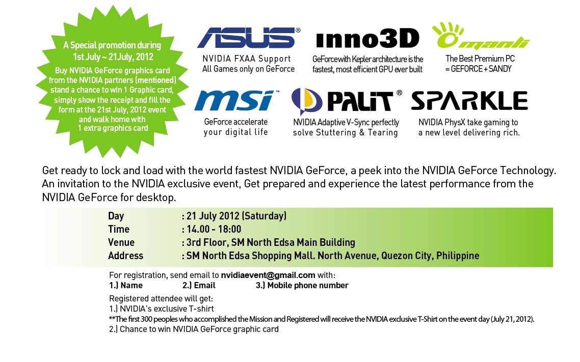 Invitation maker in sm north edsa images invitation sample and nvidia product launch july 21 2012 geektutorial i just receive email invitation from nvidia i just stopboris Images
