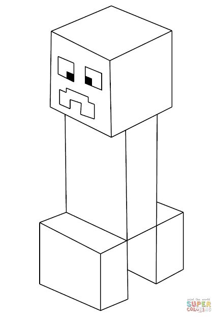 Click The Minecraft Creeper Coloring Pages To View Printable Version Or  Color It Online Patible With Ipad And Android Tablets