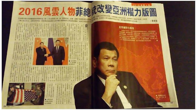 "Duterte covered in Hong Kong magazine: ""He is the one important people of the world"""