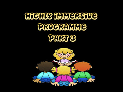 Highly Immersive Programme - Part 3