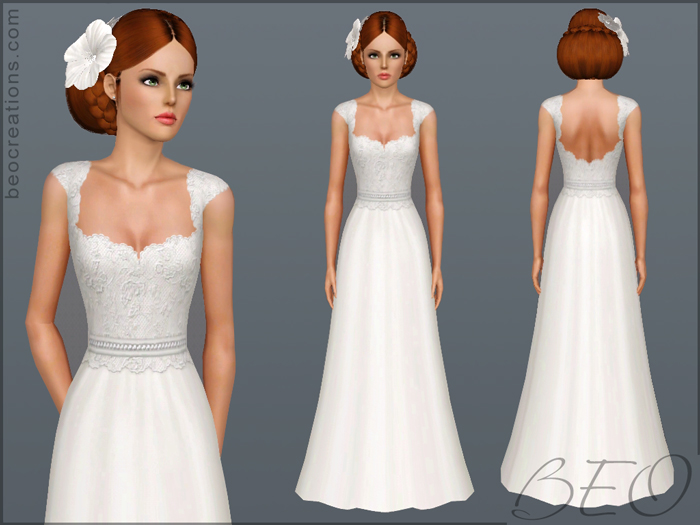 My Sims 3 Blog: Wedding Dress 11 By BEO