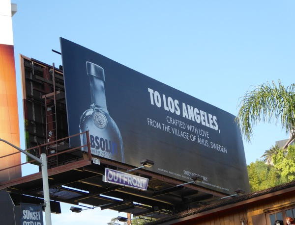 Absolut Vodka To Los Angeles billboard