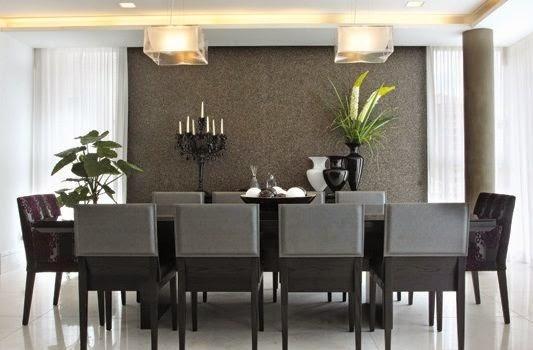 Sala De Jantar Parede Preta ~  para decorar a mesa de jantar!!  Jeito de Casa  Blog de Decoração