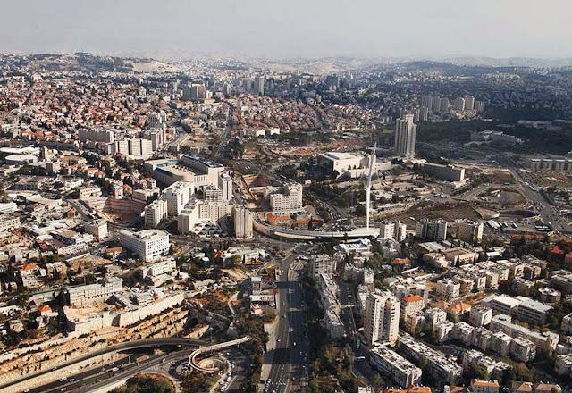 Imagem aérea de Jerusalém