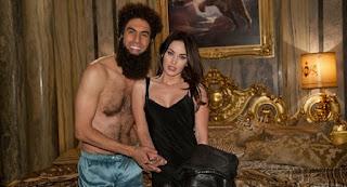 Megan Fox and Sacha Baron Cohen in 'The Dictator'