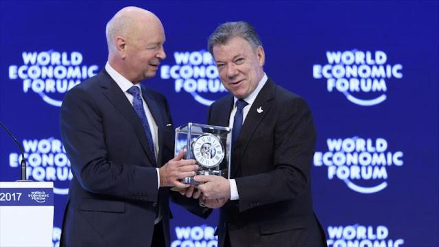 Santos, galardonado en Davos con premio Estadista Global del FEM