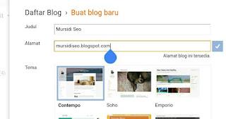 Cara Membuat Blog Gratis Menggunakan Atau Lewat Hp Android.