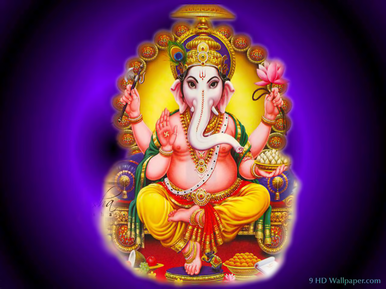 Lord Ganesha Pictures Download: Hare Krishna: Shri Ganesh Wallpaper-5