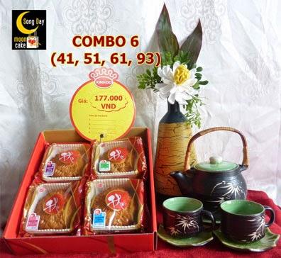 Hộp bánh trung thu Kinh Đô Sông Đáy Combo 6