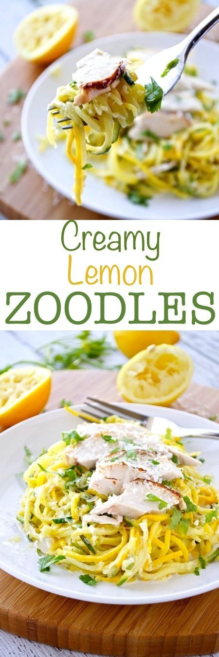 Creamy Lemon Zoodles