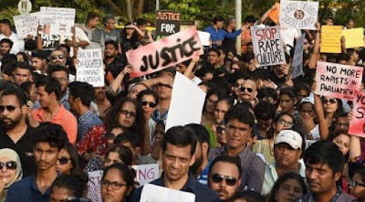 People Protested At New Delhi Against Rapes In India