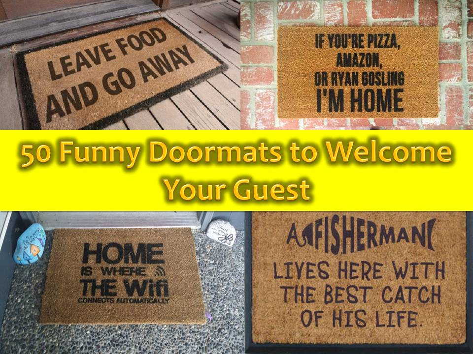Give Your Guest A Humorous Welcome With This 50 Designs Of