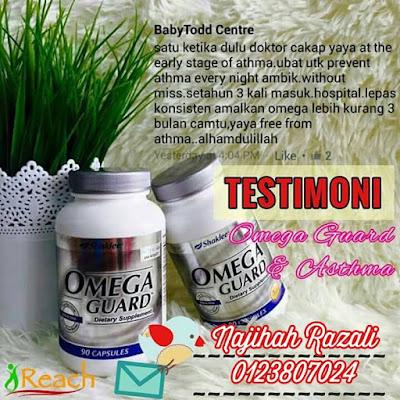testimoni omega guard untuk asthma