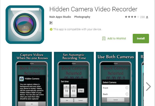 hidden camera video recorder