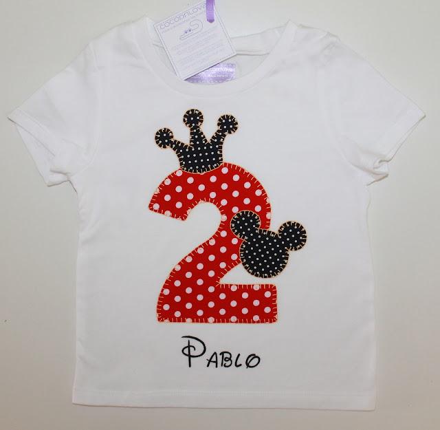 camiseta de cumpleaños 2 años mickey mouse