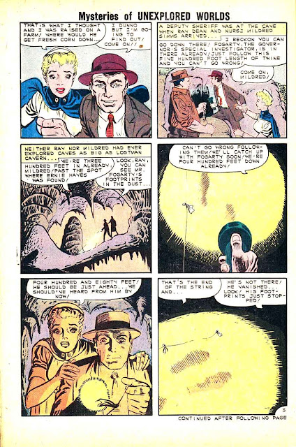Mysteries of Unexplored Worlds v1 #24 charlton comic book page art by Steve Ditko