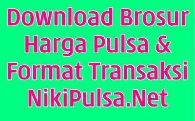Download Brosur Reload Server Pulsa Elektrik Online Termurah Jakarta Bandung Semarang Surabaya