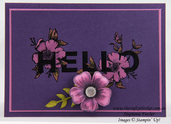 Floral Statements, Bleaching, Flower Shop, #thecraftythinker, Stampin up Australia Demonstrator, Stephanie Fischer, Sydney NSW