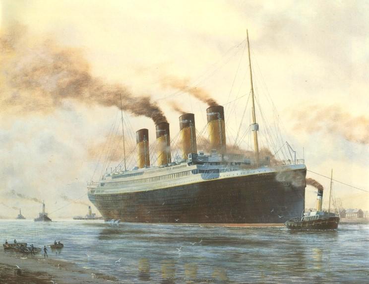 41829cd440f Majestoso como os Titãs da mitologia grega. Insubmergível diziam os jornais  da época. Assim foi o lançamento do Titanic