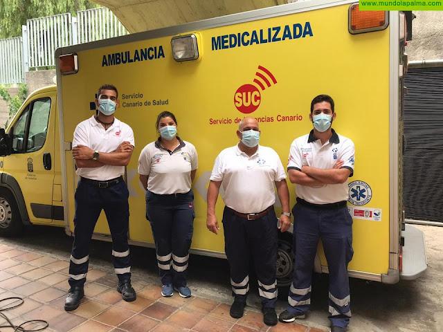 Una mujer da a luz en una ambulancia del SUC durante su traslado al hospital en La Palma