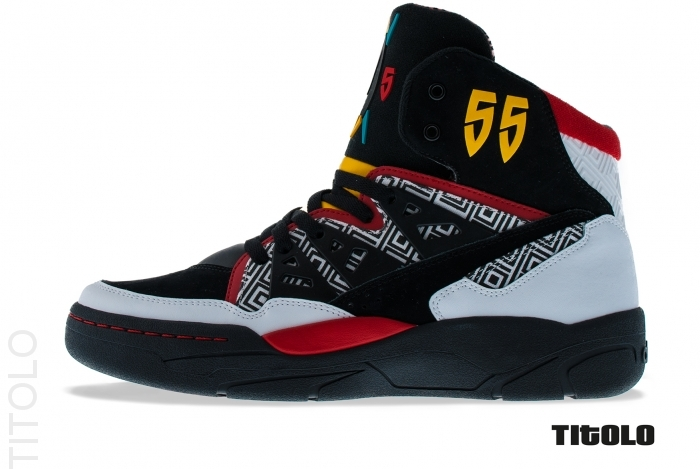 best website 31641 bfcc4 Adidas Mutombo - Running White   Light Scarlet   Black