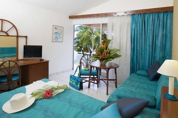 Chambre, vue jardin- Hôtel Fleur d'épée au Gosier - Guadeloupe