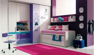 Desain Kamar Anak Perempuan Sederhana Ukuran Kecil
