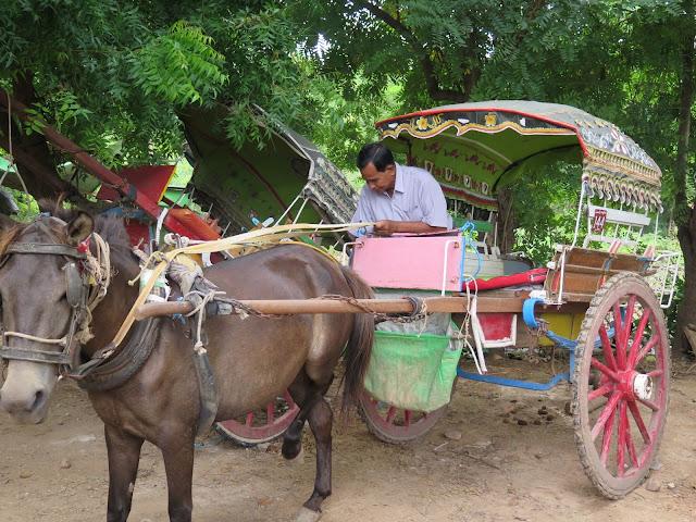 Carro de Caballos en Inwa