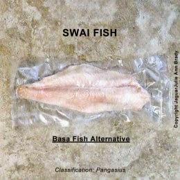 swai fish in plastic wrapper