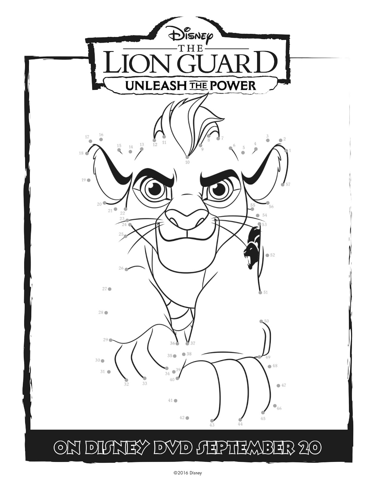 Disney The Lion Guard Unleash The Power Activity Coloring Pages Promo