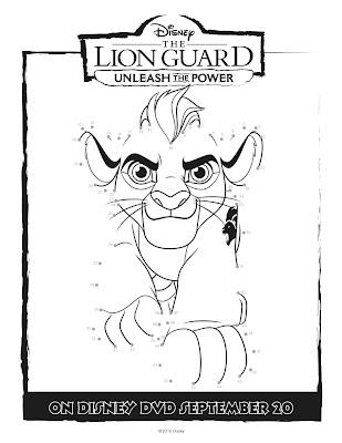 The Lion Guard Connect the dots Kion