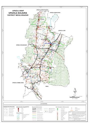 Kulaura Upazila Map Moulvibazar District Bangladesh