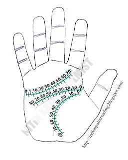 timing of lifeline fate line heart line palmistry