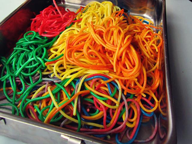 gekleurde pasta recepten