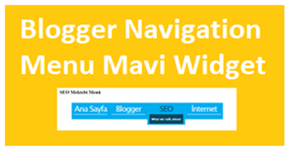 Blogger Mavi Navigation Menu Widget
