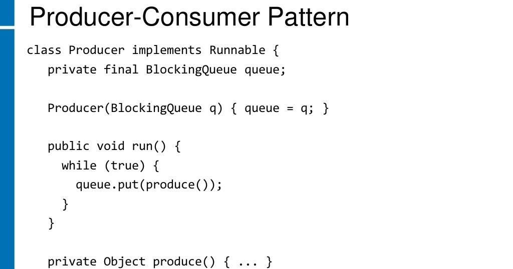 multithreading - Java BlockingQueue produces/consumes not