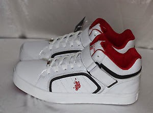 us polo assn mohegan white red high top mens shoes