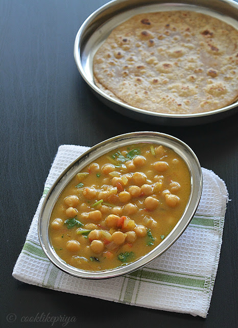 Chickpeas  Channa Coconut milk Curry