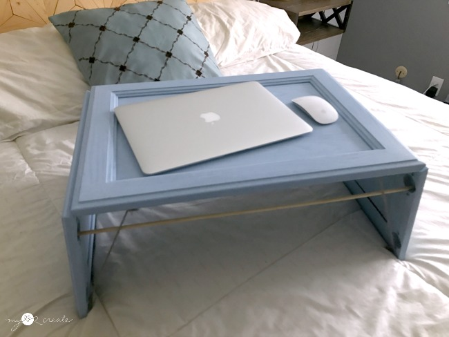 using a dowel to keep lap desk legs from collapsing