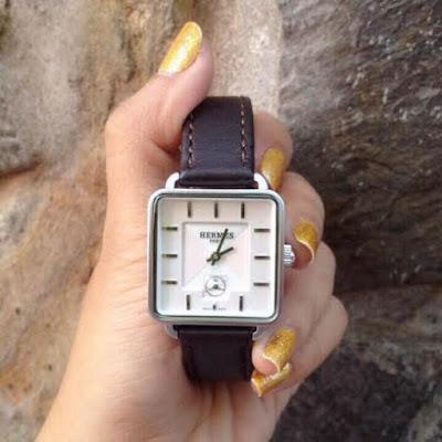 đồng hồ nữ dây da hermes v01600