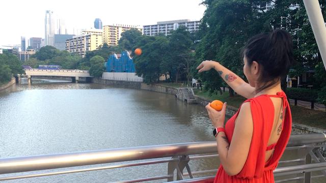 Saint-valentin amour mandarine singapour asie
