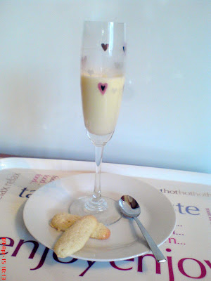 Lemon Posset with Langues du Chat Biscuits
