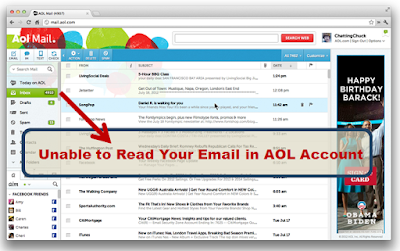 Unable to Read Your Email in AOL