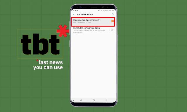 Android Oreo di Galaxy Note 8