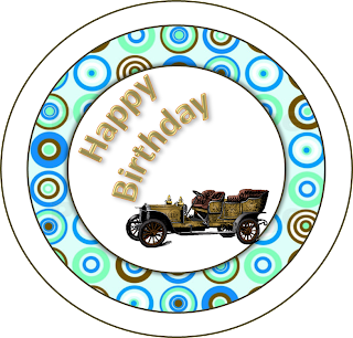Old Cars Toppers or Free Printable Candy Bar Labels