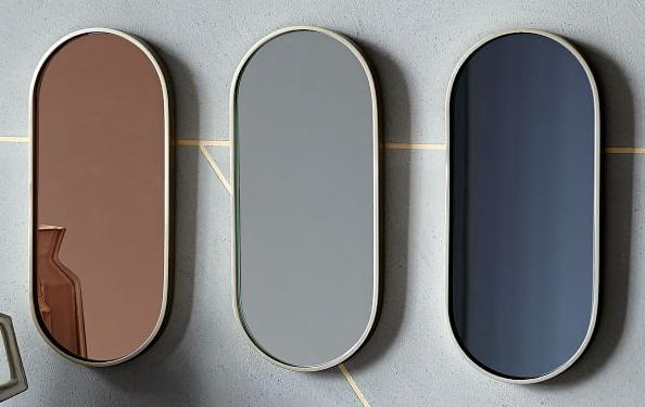 Custom color mirrors and antique mirror choices