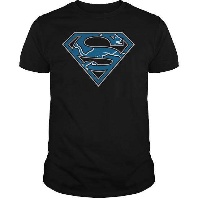 Detroit Lions Superman Logo Shirt
