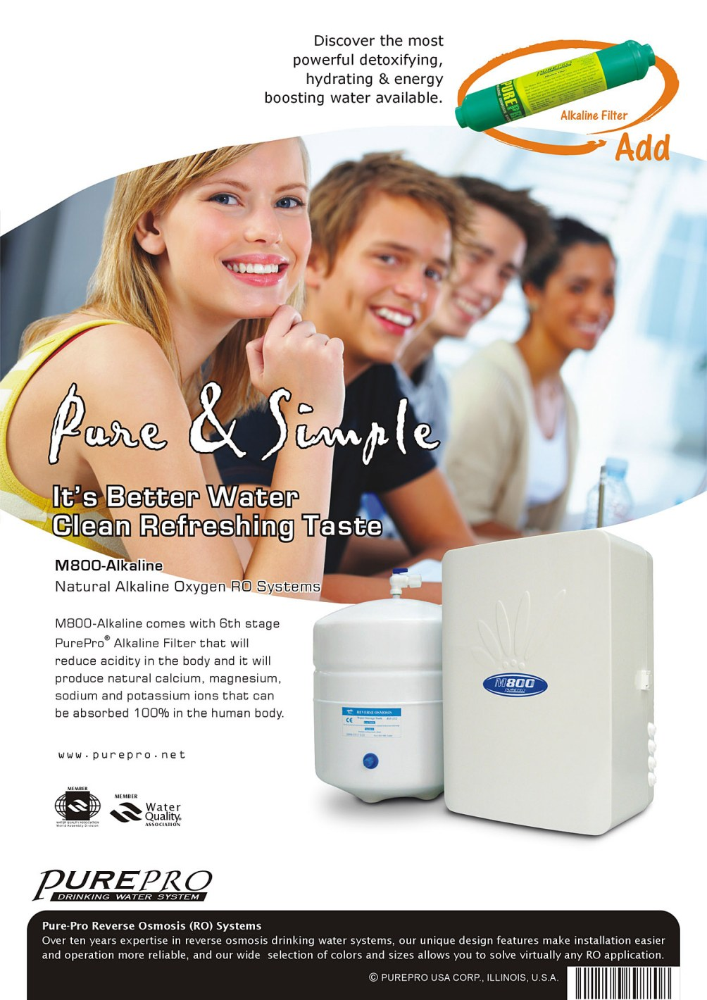 PurePro ® Alkaline Reverse Osmosis (RO) Water Filtration Systems