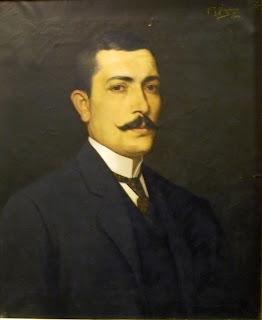 προσωπογραφία του Μιχαήλ Μακρουλάκη (έργο Νέστορα Βαρβέρη) στο Βιομηχανικό Μουσείο της Ερμούπολης