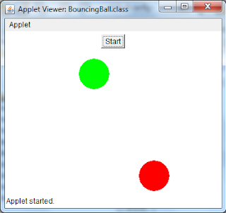 Execution of Bouncing Ball Program